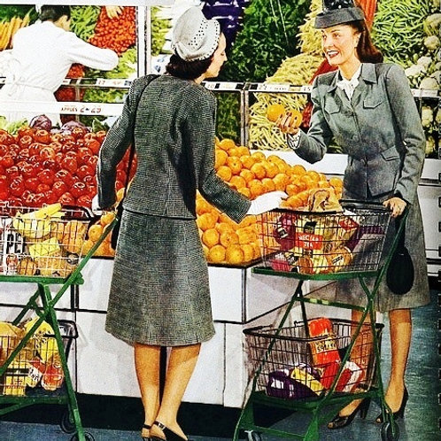 Fresh Fruit & Veg Vintage Image Card
