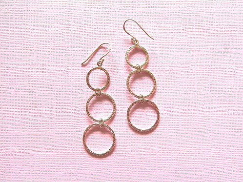 Siren Silver Triple Hoop Earrings
