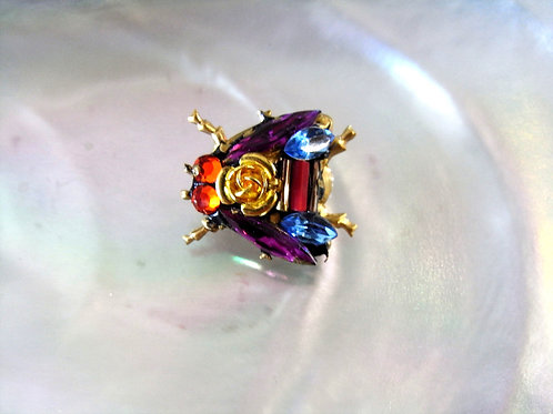 Annie Sherburne Purple Wing Bee Brooch Design 4
