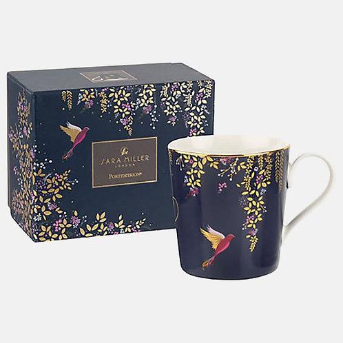 Sara Miller Navy Hummingbird Mug