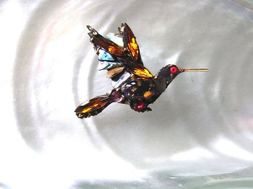 Annie Sherburne Amber Wing Hummingbird Brooch