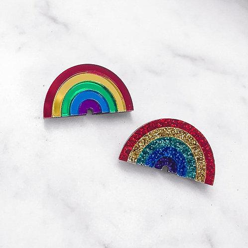 Rainbow Brooch Pin