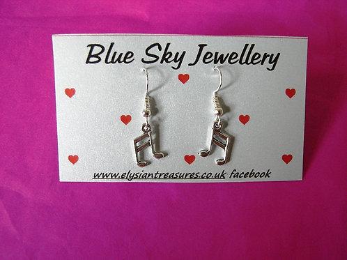 Blue Sky Music Staves Earrings