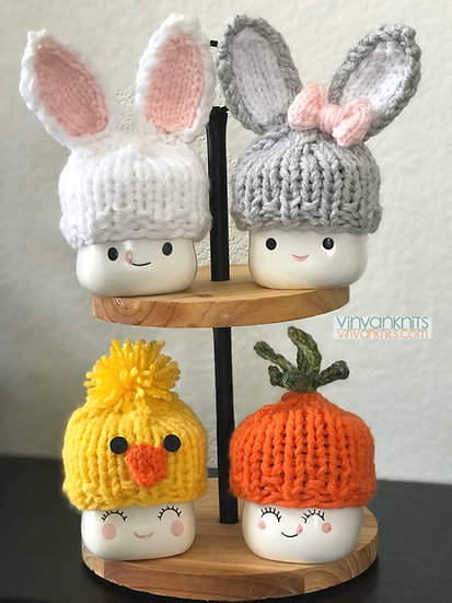 Easter Marshmallow Mug Hats