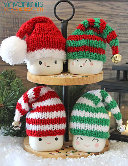 Santa & Elves Marshmallow Mug Hats