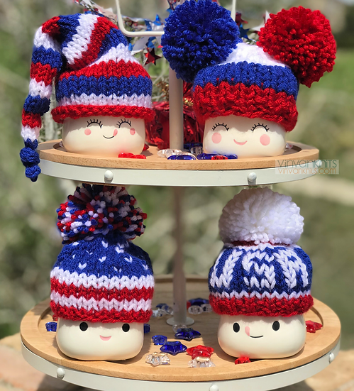 Red, White & Blue Hats - Marshmallow Mug Hats