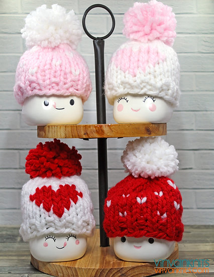 Valentine's Day In Love Marshmallow Mug Hats