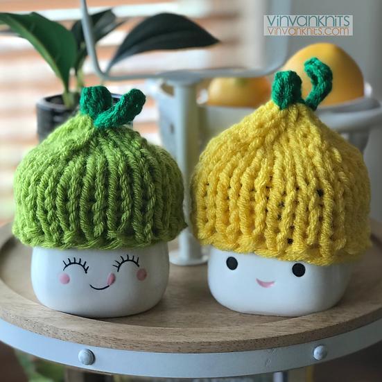 Lemon and Lime Hats - Marshmallow Mugs