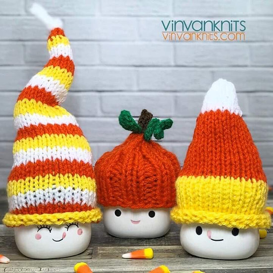 Candy Corn Marshmallow Mug Hats