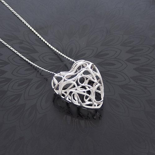 Swirl Heart Necklace