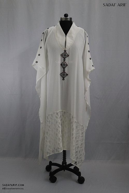 White Georgette Kaftan