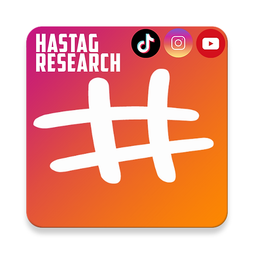Hashtags Research (IG,YT,TTok)