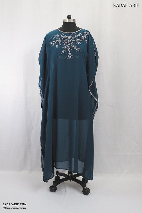 Yale Blue Embroidered Kaftan