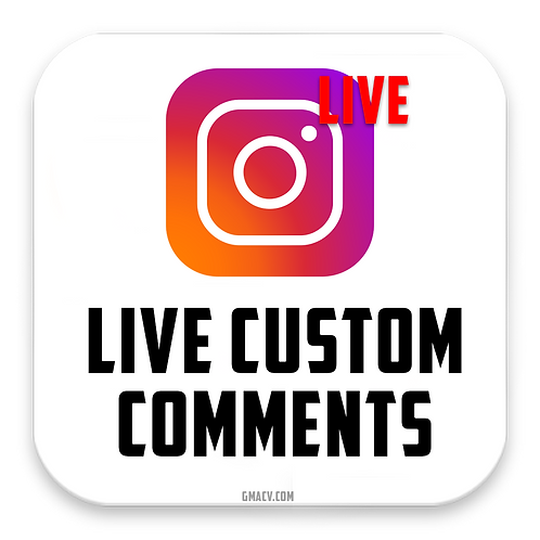 Instagram Live Custom Comments