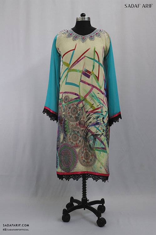 Printed Hand-Embroidered Tunic