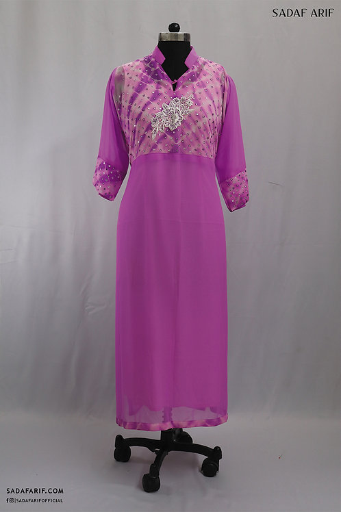 Pink Hand-Embroidered Tunic
