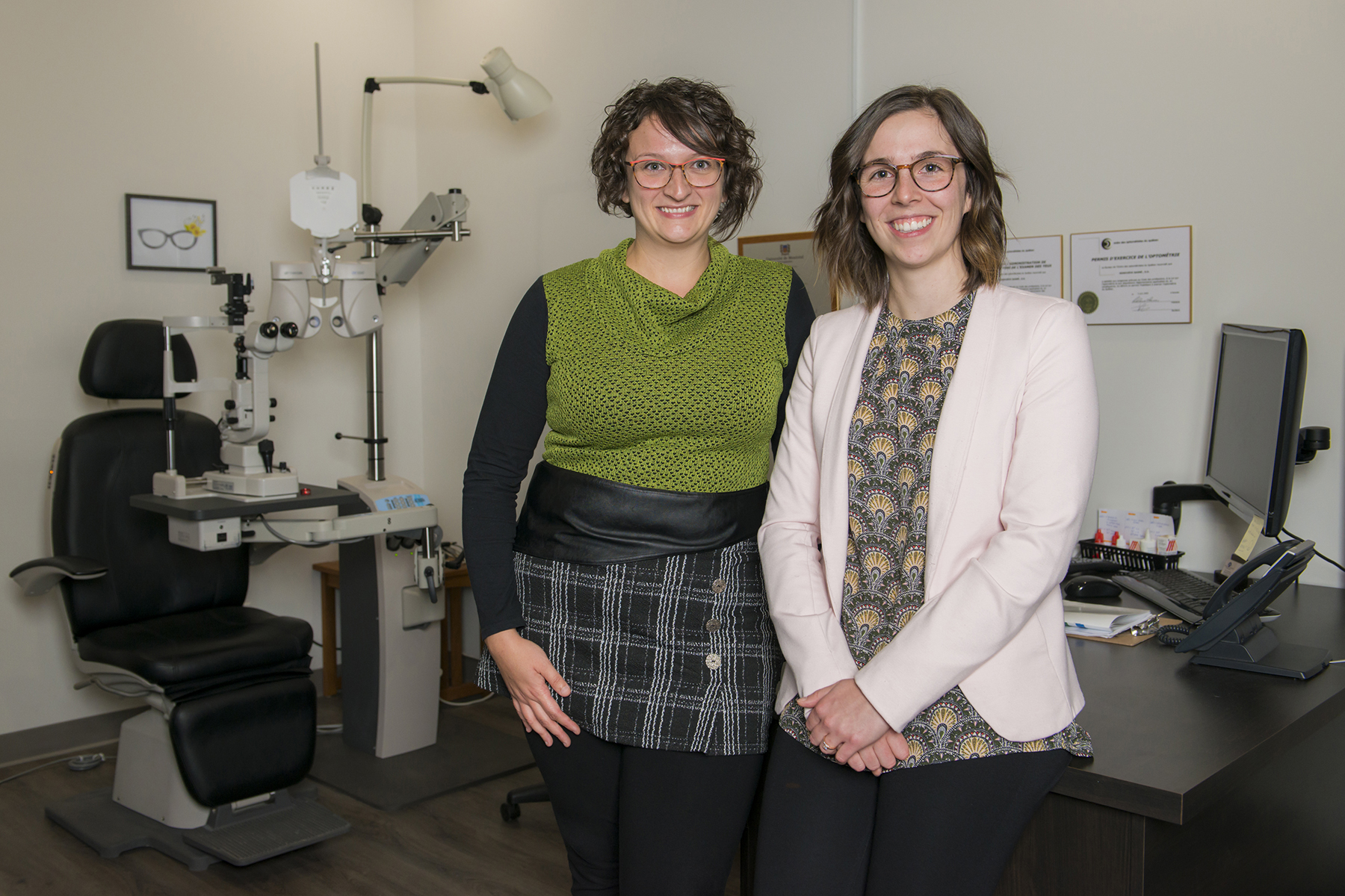 Geneviève et Sarah-Ève, optométriste