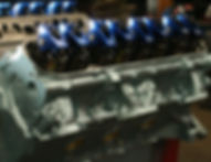 Cylinder head heads pontiac scorpion rockers pontiac blue remanufacture remanufactured cylinder heads installed springs valves rockers precision quality professional machinist auto truck industrial classic car rebuild horsepower ccs auto engine rebuilders waukesha milwaukee madison wisconsin arcadian avenue specialist