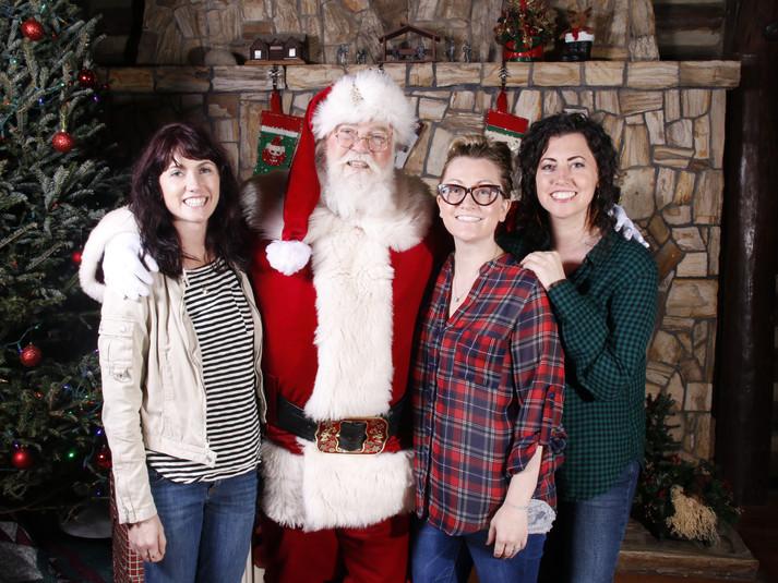 Santa with Sisters