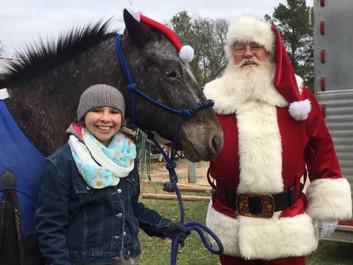 Santa with pet horse