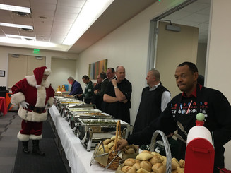 Santa office luncheon