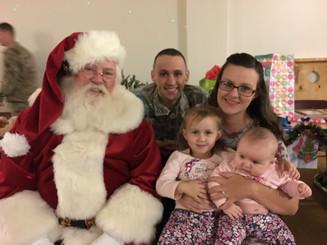 Santa visits army families
