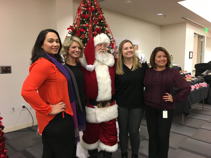 Coworkers and Santa