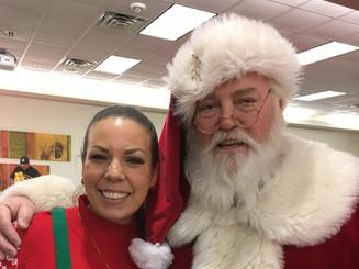 Santa with Elf helper