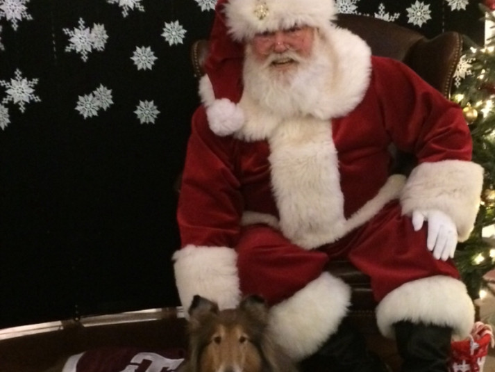 Santa with the A&M Mascot