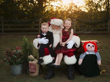Siblings with Santa