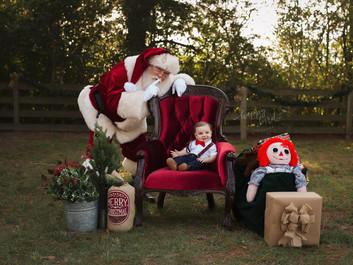 Santa and Baby Photography