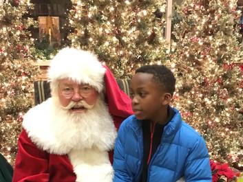 Santa visit fun