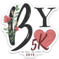 Sticker design for the 2019 #beyoubelove5k