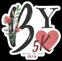 Sticker design for the 2019 #beyoubelove5k