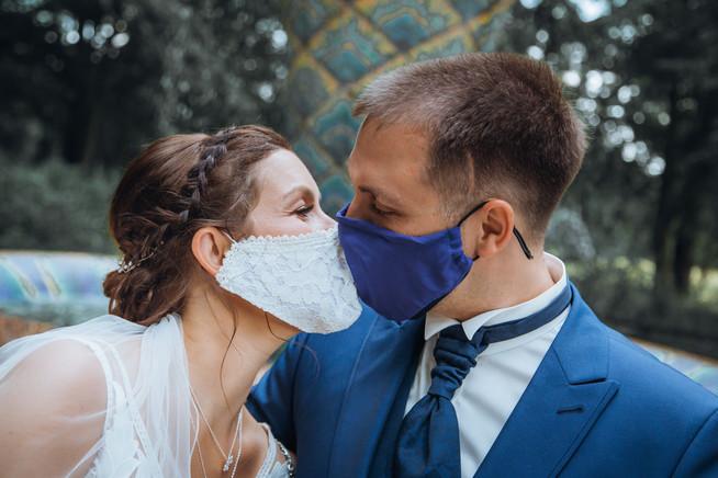 Corona Hochzeit mit Masken