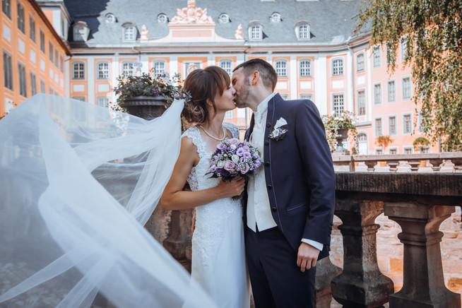 Brautpaar Schleier Schloss