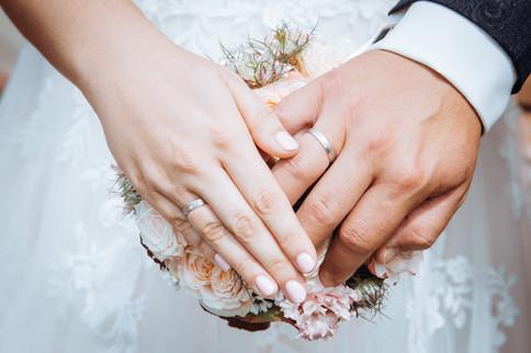 Eheringe Brautstrauß