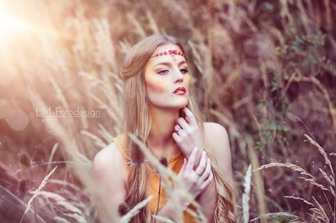 Indianer Mädchen Fantasy Portrait