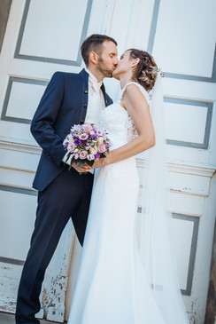 Brautkleid Spitze Paarshooting