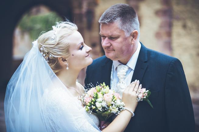 Braut und Bräutigam in Kriebstein