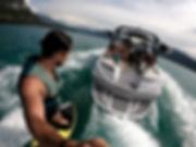 Wake surf sur le lac d'annecy au Sport 74 veyrie du lac