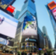 GoPro on times square , charles navillod times square , skieur on times square, pub gopro hero