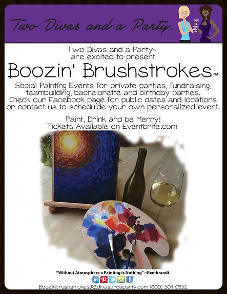 Boozin' Brushstrokes Paint Parties