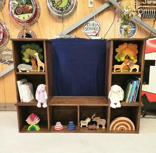 Mennonite Cube Shelf Bench