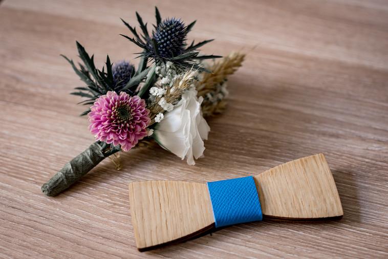 Noeud papillon en  bois mariage