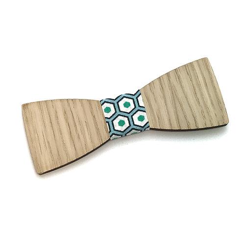 Noeud Papillon en bois Le Droit, chêne, tissu