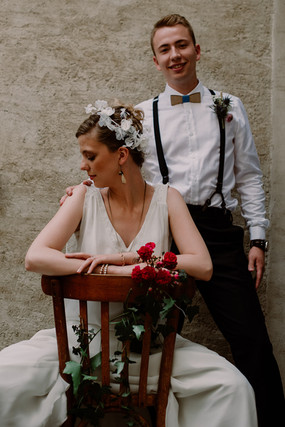 Shooting bretelles mariage