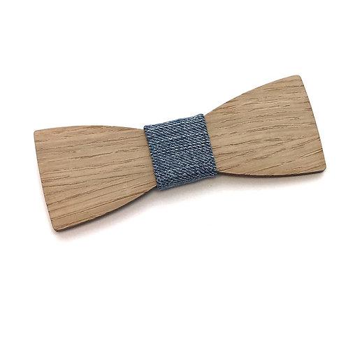 Noeud Papillon en bois, chêne, et jean Denim recyclé