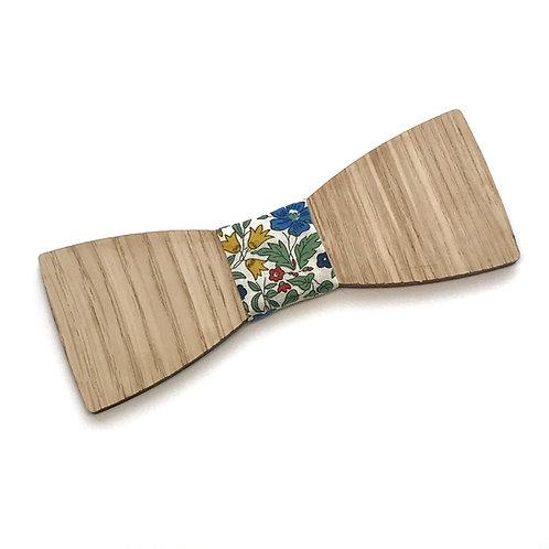 Noeud Papillon en bois Le Droit, chêne, tissu liberty