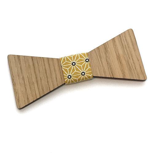 Noeud Papillon en bois Le Papillon, chêne, tissu
